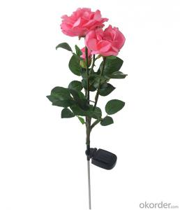 Solar LED Pink Rose Light for Yard, Home, Halloween, Christmas Tree, Parties, Garden Decoration
