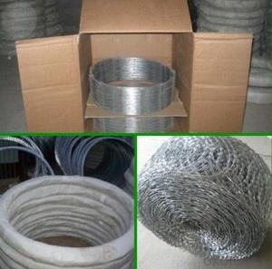 Hot Dipped Galvanized Metal Razor Blade Wire