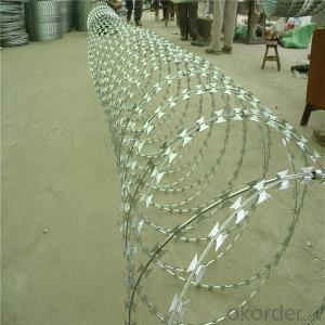 Hot Dipped Galvanized Razor Barbed Tape Wire
