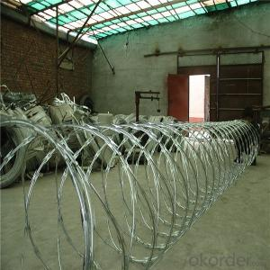 Single Coil Galvanized Razor Barbed Wire High Quality