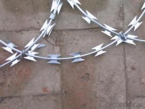 Galvanized Concertina Razor Barbed Wire for Security Fence