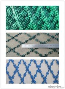 Galvanized Razor Barbed Wire / Barbed Wire Bto-22
