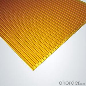 Honeycomb PC Hollow Sheet Impact Resistance: 80 Times that of Glass15 Times That of Acrylic Sheeting
