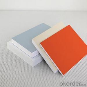 ROHS colorful high density high quality advertismet white pvc foam/celuka sheets