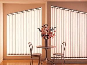 Graceful Motorized Vertical Blind for Decoration