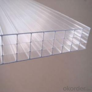 UV-Coating Four-wall PC Hollow Sheet /Plastic Sheet For Agriculture Roofing