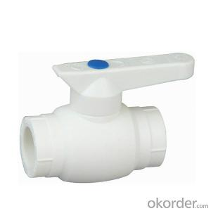 Double  head inne  tooth PP-R Deluxe  copper core ball valve