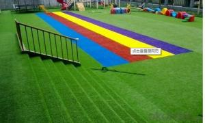 artificial grass putting green Running track red