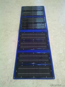 160W Folding Solar Panel with Flexible Supporting Legs for Camping