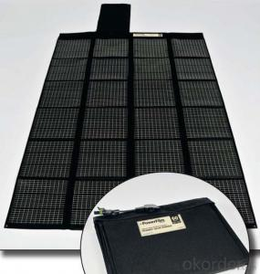 50W Folding Solar Panel with Flexible Supporting Legs for Camping