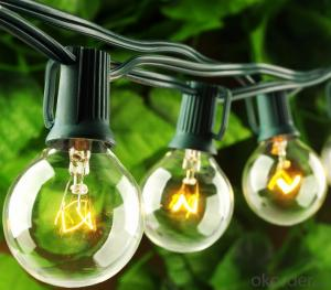 Outdoor Patio G40 Globe String Lights Fancy String Lights for 2 Year Warranty
