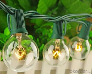 Outdoor Patio String Lights G40 Globe String Lights Factory Wholesale Led  for Decoration