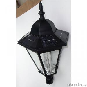 LED Solar Garden Light Soalr Wall Light Outdoor Solar Post Lamp