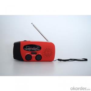 Solar Dynamo Radio with Charger and Flash Ligh with Exquisite Design
