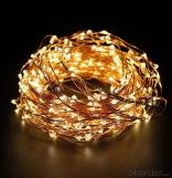 Yellow Fairy Light Flexible Led Mini Copper Wire String Lights Led Christmas Lights