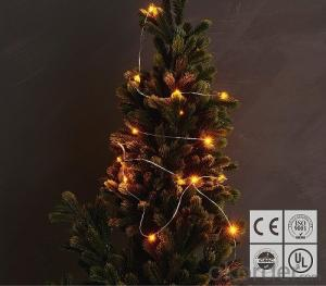 Yellow Battery Operated LED Copper Wire String Lights for  Holidays Party Wedding Decoration