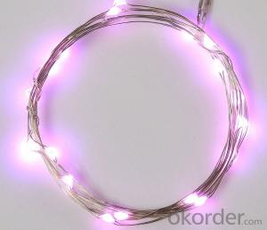 Pink Battery Operated LED Copper Wire String Lights for  Holidays Party Wedding Decoration