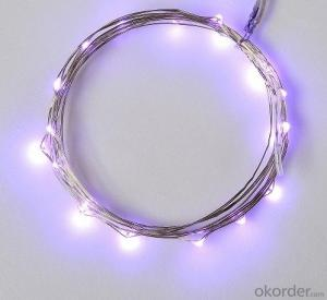 Purple Battery Operated LED Copper Wire String Lights for  Holidays Party Wedding Decoration