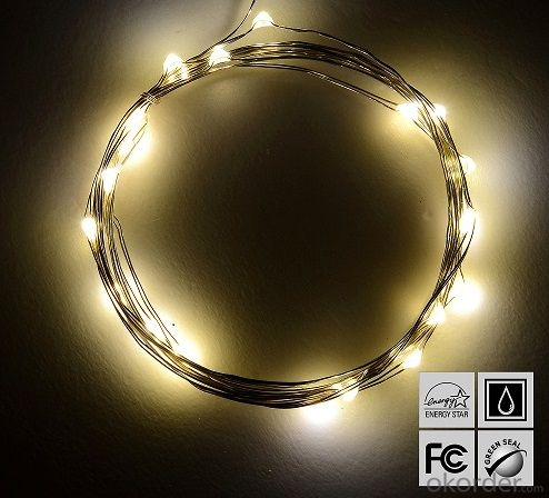 Homebase Led String Lights : Buy Warm White Battery Operated LED Copper Wire String Lights for Holidays Party Wedding ...
