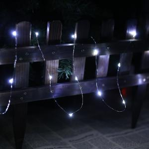 Cold White Battery Operated LED Copper Wire String Lights for  Holidays Party Wedding Decoration