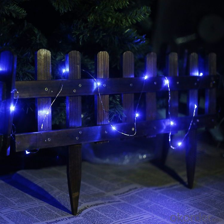 Outdoor String Lights With Remote : Buy Blue Copper Wire Outdoor Led String Christmas Lights with Remote Control and Power Supply ...