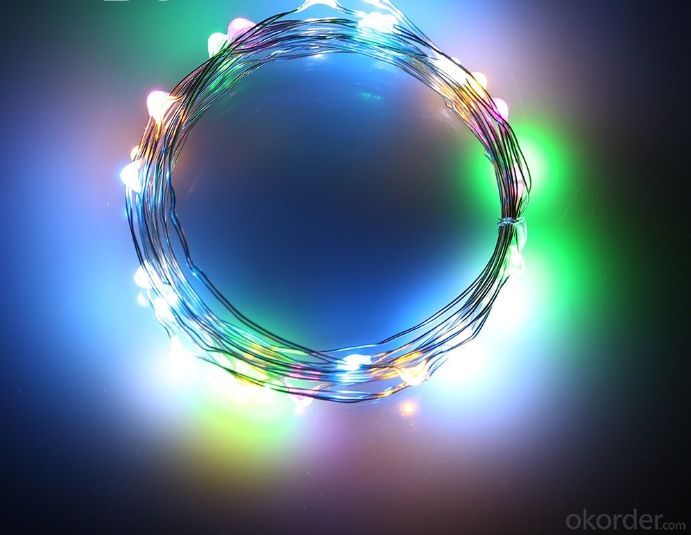 Homebase Led String Lights : Buy Coloful Battery Operated LED Copper Wire String Lights for Holidays Party Wedding Decoration ...