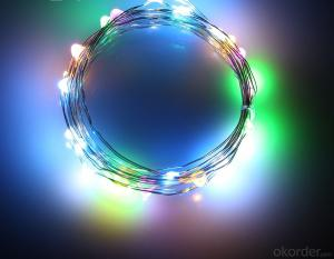 Coloful Battery Operated LED Copper Wire String Lights for  Holidays Party Wedding Decoration