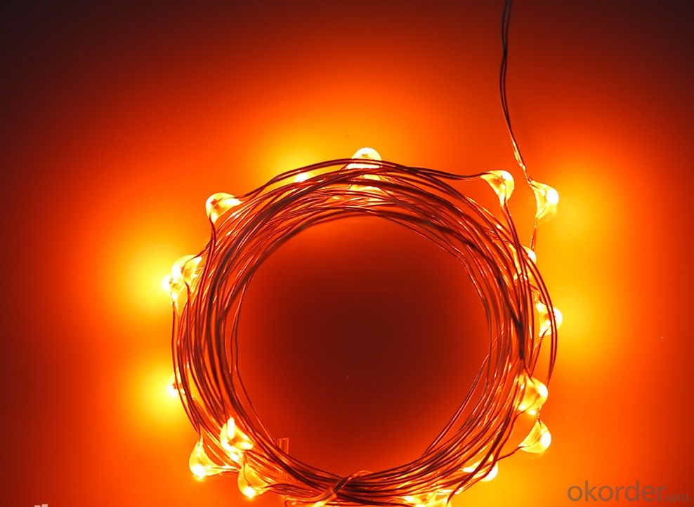 Buy Orange Fairy Light Flexible Led Mini Copper Wire String Lights Led Christmas Lights Price ...