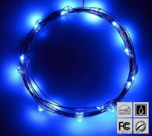 Blue Fairy Light Flexible Led Mini Copper Wire String Lights Led Christmas Lights
