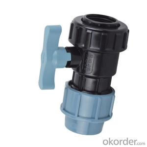PVC Plastic Female single union ball valve