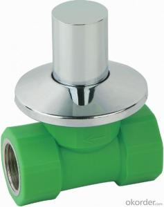 PP-R plastic double female threaded concealed  stop valve