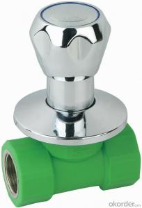 PP-R double female threaded luxurious  stop valve