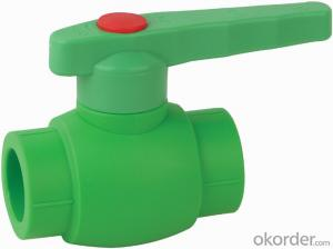 PP-R B4 Type  ball  valve  with  brass  ball
