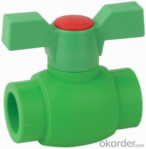 PP-R B5 Type  ball  valve  with  brass  ball