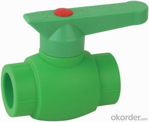 PP-R B3 Type  ball  valve  with  brass  ball