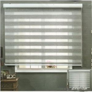 Buy blackout sun shade curtain plastic chain pull double for Exterior no chain window shade