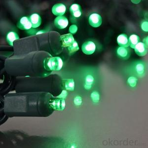 Wide Angle 5MM LED Lights - 70 5mm Amber LED Christmas Lights