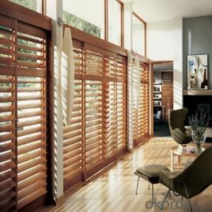 50mm wood venetian blind curtain and modern office wooden shutter for home