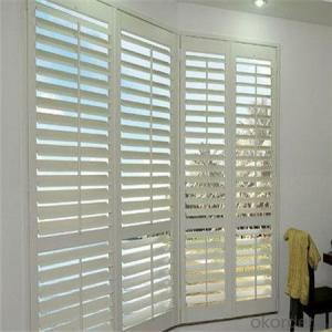 Venetian Window Vertical of Office Outdoor Waterproof Faux Wooden Decorative
