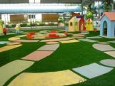 Badminton colorful and nature artificial grass
