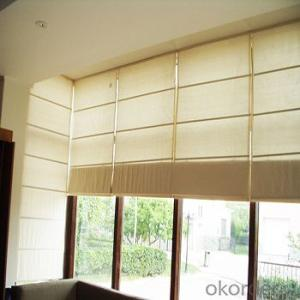 Elegant horizontal retractable motorized shangri-la blinds