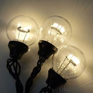 Chinese G50 Patio Globe String Lights UL Listed