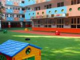 Children play ground artificial grass and lawn