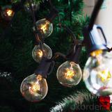 25FT G40 Globe String Light with 25 Clear Bulbs, Garden, Party, Wedding, Pergola, Backyard, Umbrella