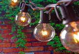 25ft String Lights with G40 Globe Bulbs, Extendable Indoor & Outdoor Light