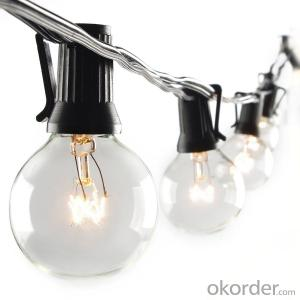 Globe String Lights with G40 Bulbs UL Listed 25ft  String Lights for Patio Garden Commercial Party