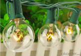 G40 Globe Bulbs, Decoration for Garden, Patio, Umbrella, Party, Wedding, Halloween, Christmas