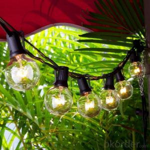 Patio Lights G40 Globe Party String Light Christmas Landscape Lights Vintage Style Ball Bulbs 25ft