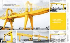 A-Leg Double Girder Gantry Crane with hook Cap.5~75t/20t