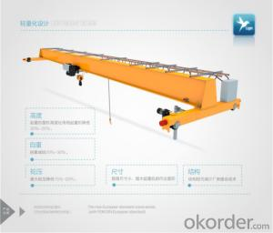 HD Model Electric Single Girder Crane, light dead wight